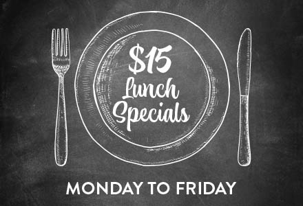 Monday to Friday lunch specials